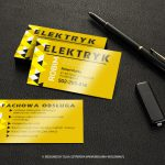 Black business cards blank mockup on leather background High resolution